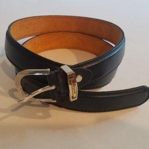 Versace leather navy blue belt. Size 36. Unisex
